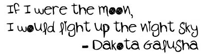 Dakota's poem